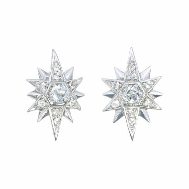 jcpenney.com | Round White Topaz Sterling Silver Stud Earrings