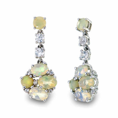 jcpenney.com | White Opal Drop Earrings