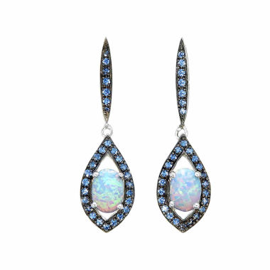 jcpenney.com | Blue Opal Sterling Silver Drop Earrings