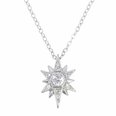 jcpenney.com | Womens White Topaz Sterling Silver Pendant Necklace