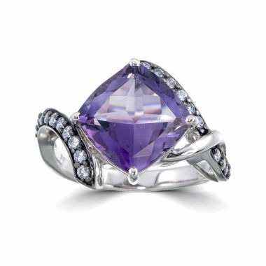 jcpenney.com | Womens Purple Amethyst Sterling Silver Halo Ring