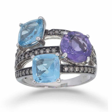 jcpenney.com | Womens Blue Topaz Sterling Silver Crossover Ring
