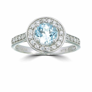 jcpenney.com | Womens Blue Topaz Sterling Silver Halo Ring