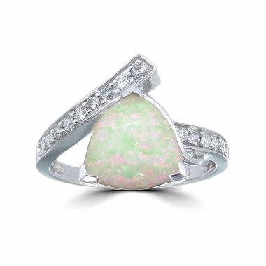 jcpenney.com | Womens White Opal Sterling Silver Bypass Ring