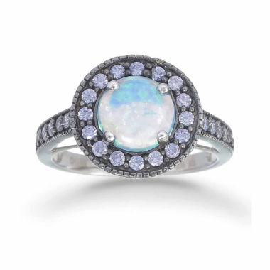jcpenney.com | Womens Blue Opal Sterling Silver Halo Ring