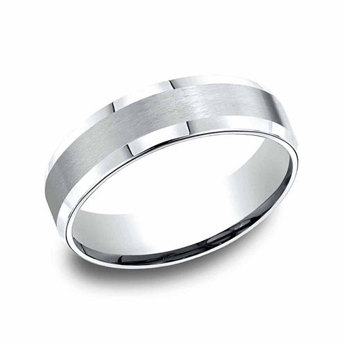 Mens Platinum 6mm Comfort-Fit Wedding Band