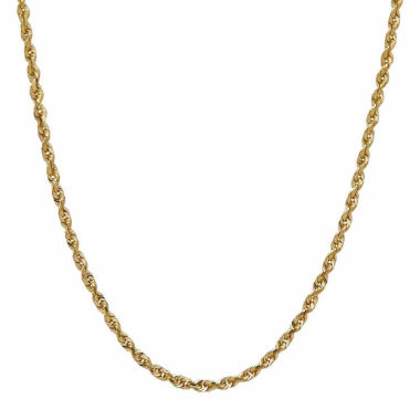 jcpenney.com | LIMITED QUANTITIES! 14K Yellow Gold Solid 1.8mm Rope Chain Necklace