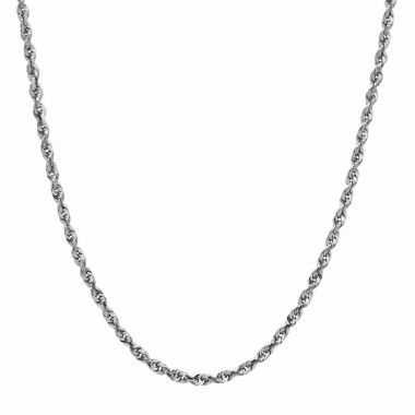 jcpenney.com | 14K White Gold Glitter 1.8mm Rope Chain Necklace
