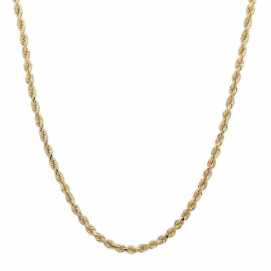 jcpenney.com | 14K Yellow Gold 2mm Rope Chain Necklace