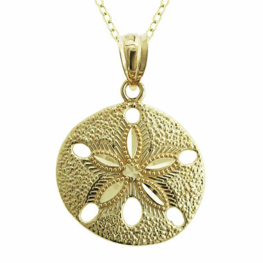 jcpenney.com | 10K Yellow Gold Sand Dollar Charm Pendant