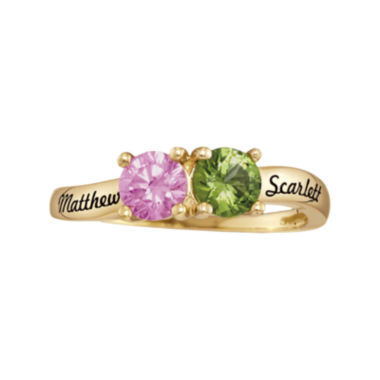 jcpenney.com | Personalized Birthstones Couples Ring
