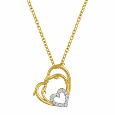 jcpenney.com | Womens White Diamond Accent 14K Gold Over Silver Pendant Necklace