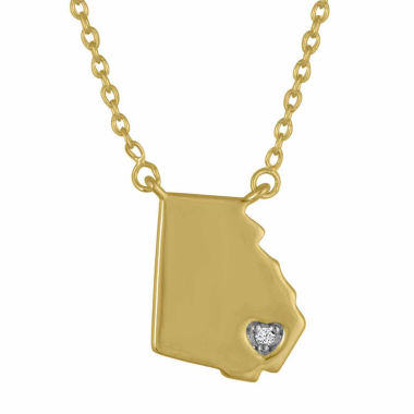 jcpenney.com | Diamond Accent 14K Yellow Gold over Silver Georgia Pendant Necklace