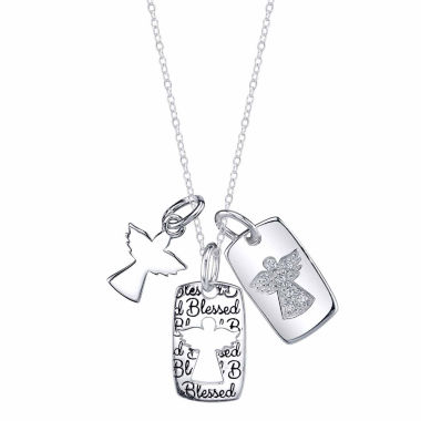 jcpenney.com | Inspired Moments Womens White Cubic Zirconia Pendant Necklace