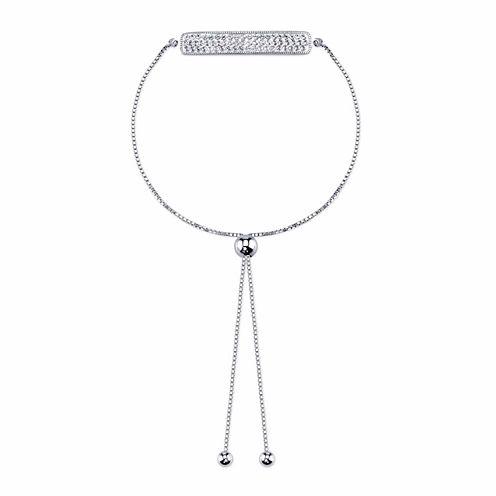 Inspired Moments Womens White Crystal Bolo Bracelet