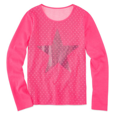 jcpenney.com | Total Girl Long Sleeve Graphic Top - Big Kid