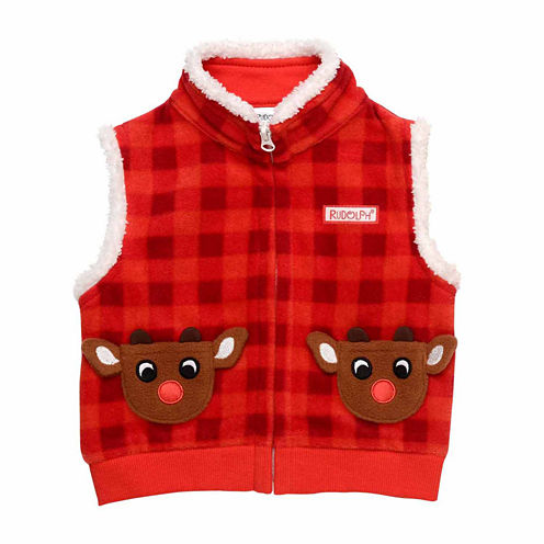 Rudolph The Red Nose Reindeer Printed Vest 3m-12m