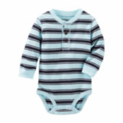 OshKosh Boy Blue Stripe Bodysuit 3-24M