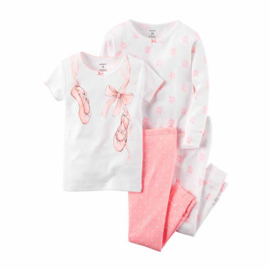 jcpenney.com | Carter's Girls 4-pc. Short Sleeve Kids Pajama Set-Preschool