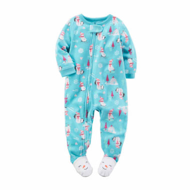 jcpenney.com | Carter's Girls Long Sleeve One Piece Pajama-Baby