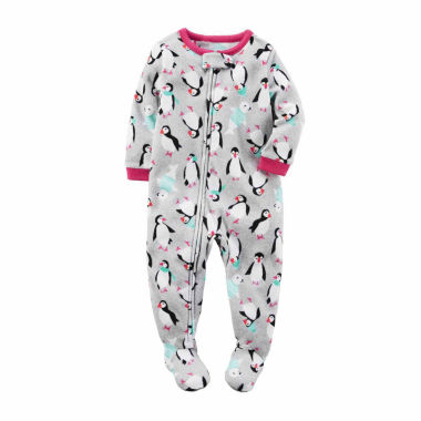 jcpenney.com | Carter's Long Sleeve One Piece Pajama-Baby Girls