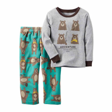 jcpenney.com | Carter's Boy Gray Bear 2pc Fleece 12-24M
