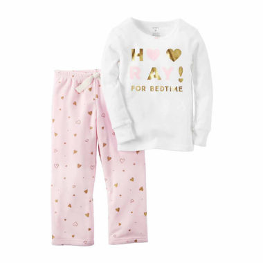jcpenney.com | Carter's Girl Ivory Bedtime 2pc Fleece 12-24M