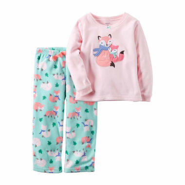 jcpenney.com | Carter's Girl Pink Fox 2pc Fleece 12-24M