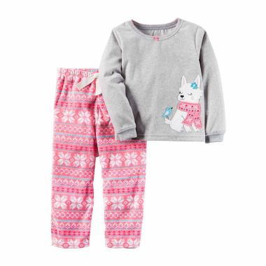 jcpenney.com | Carter's Girls Long Sleeve Kids Pajama Set-Toddler