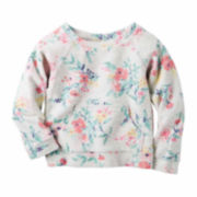 Carter's Girl Gray Floral Knit Fashion Top 4-8