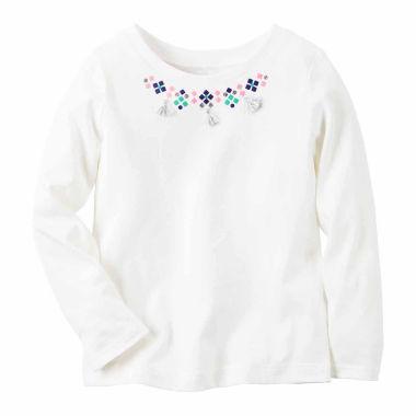 jcpenney.com | Carter's Girl Ivory Necklace Knit Fashion Top 4-8