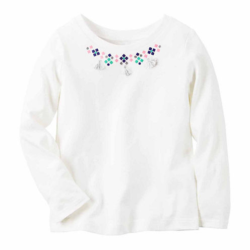 Carter's Girl Ivory Necklace Knit Fashion Top 4-8