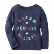 Carter's Girl Navy Dream Knit Tee 4-8