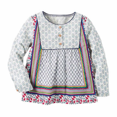 jcpenney.com | Carter's Girl Multi Print Woven Fashion Top 4-8