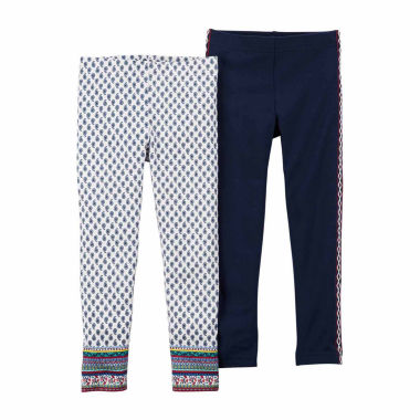 jcpenney.com | Carter's Girl Navy Red 2Pk Legging Set 4-8