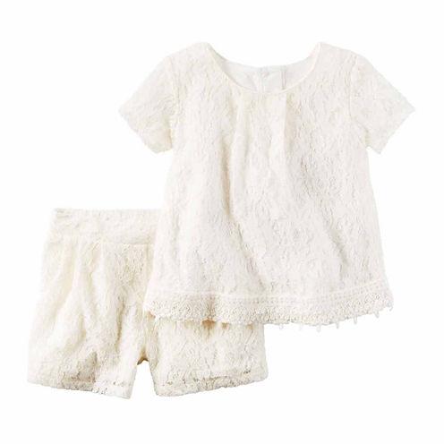 Carter's Girls Short Sleeve Short Set