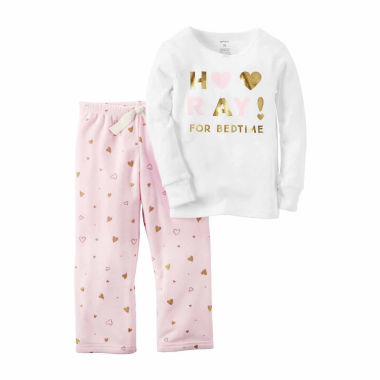 jcpenney.com | Carter's Girls Long Sleeve Pant Pajama Set-Preschool