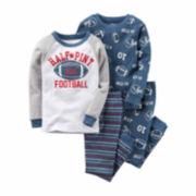 Carter's® 4-pc. Cotton Football Pajama Set - Baby Boys newborn-24m