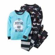 Carter's® 4-pc. Cotton Bedtime Pajama Set - Baby Boys newborn-24m