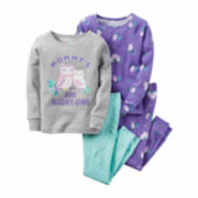 Carter's® 4-pc. Cotton Owl Pajama Set - Toddler Girls 2t-5t