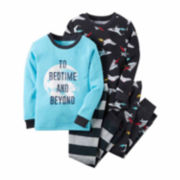 Carter's® 4-pc. Cotton Bedtime Pajama Set - Toddler Boys 2t-5t