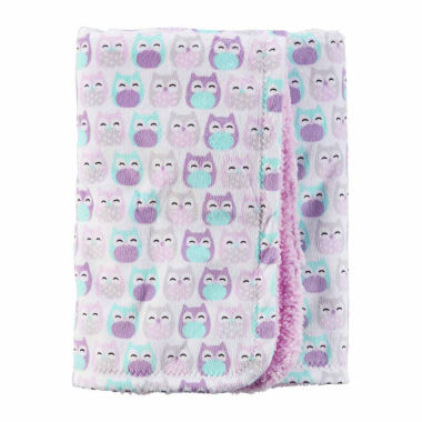 jcpenney.com | Carter's Girl Purple Owl Plush Blanket