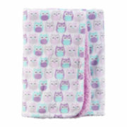 Carter's Girl Purple Owl Plush Blanket