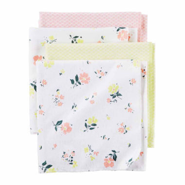 jcpenney.com | Carter's Boy Pink Floral 4pk Blankets