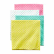 Carter's Girl Pink Dot 4pk Blankets