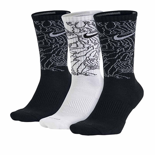 Nike® Mens 3-pk. Dri-FIT Triple Fly Crew Socks