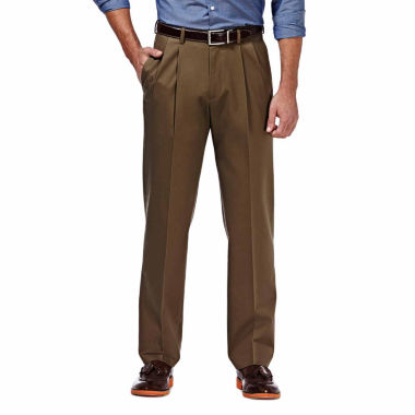 jcpenney.com | Haggar® Premium No Iron Classic-Fit Pleated Khakis