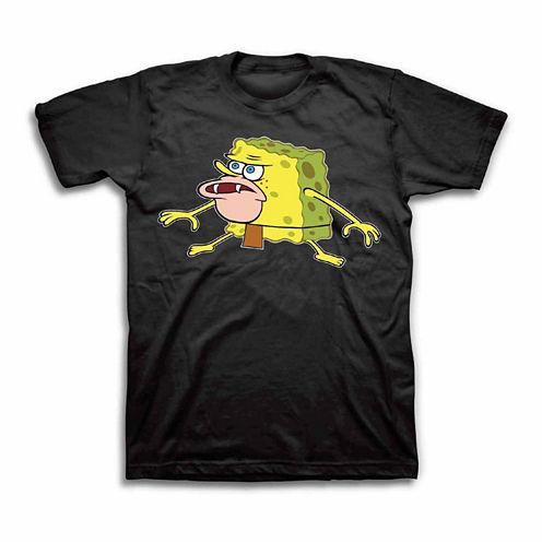 Short Sleeve Spongebob Graphic T-Shirt
