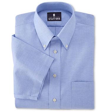 Stafford easy care short sleeve oxford dress shirt big tall for Stafford big and tall shirts