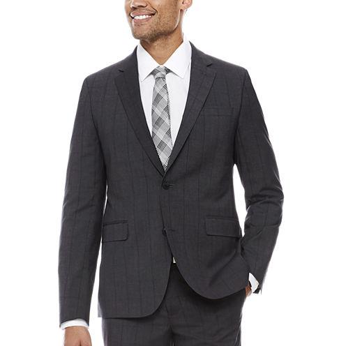 J.Ferrar Slim Fit Plaid Suit Jacket